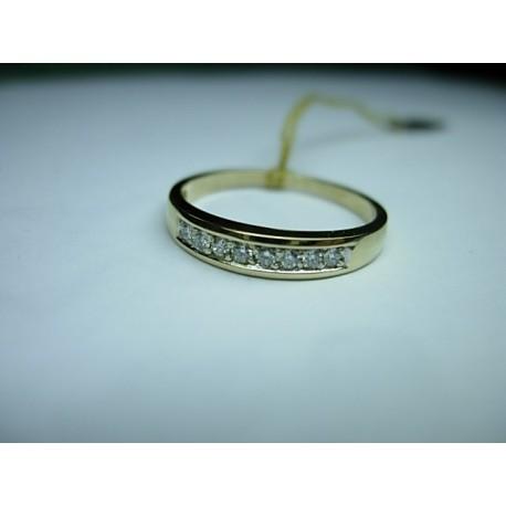 Złoty pierścionek z brylantami id: 406