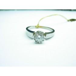 Złoty pierścionek z brylantem 0.40 ct id: 420