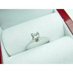 Złoty pierścionek z brylantem id: 446