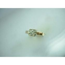 Piękny złoty pierścionek z brylantami! 0.20 ct id: 448