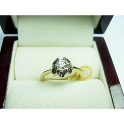 Złoty pierścionek z brylantem id: 470