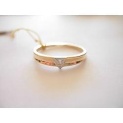 Złoty pierścionek z brylantami id: 477