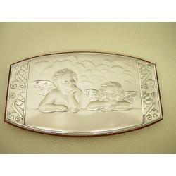 Srebrny obrazek prezent na chrzest,komunie id: 479