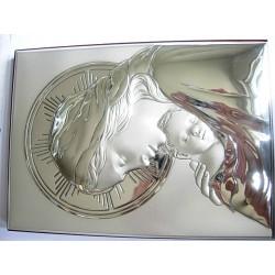 Srebrny obrazek prezent na chrzest,komunie id: 493