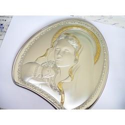 Srebrny obrazek prezent na chrzest,komunie id: 494