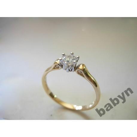 Klasyczny złoty pierścionek z brylantami! 0.30 ct id: 495